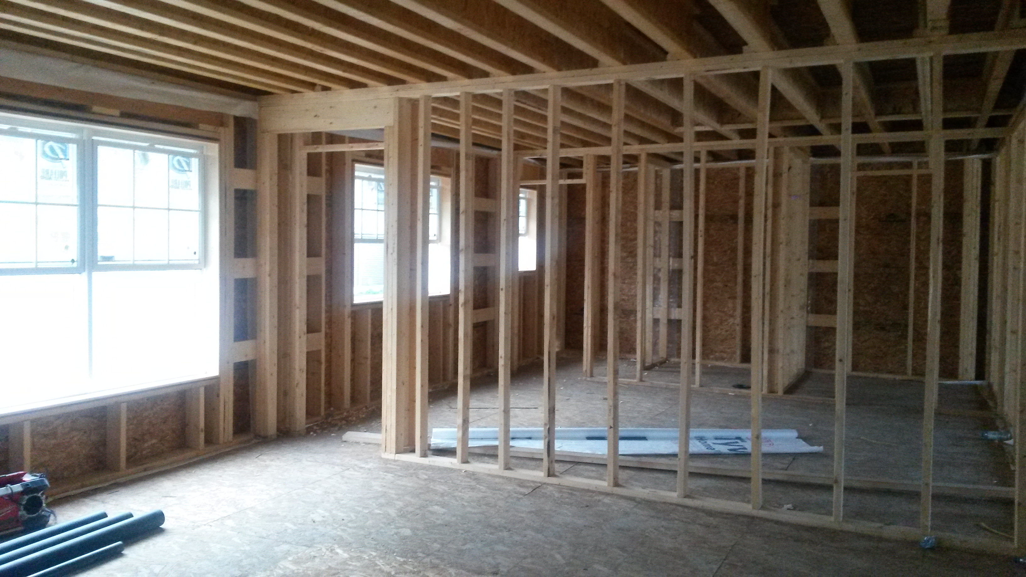 Speaking Of Our Master This Is The View For Now From Living Room Into Bedroom Walk In Closet And Bathroom Its Hard To Tell Without Dry Wall